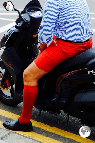 Bermuda shorts come in a variety of colours, with red (same colour as the flag) being especially popular.
