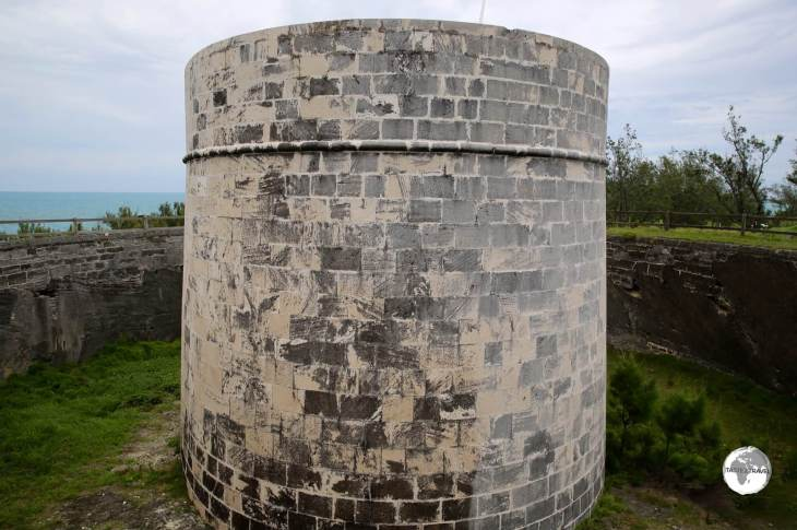 Martello Tower in St. Georges parish, part of line of defensive forts built by the British.