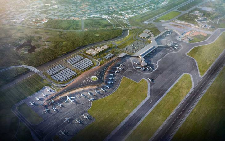The new Norman Forster-designed airport terminal at Tocumen airport.