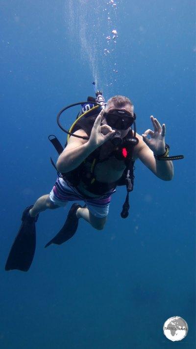 Enjoying the diving.