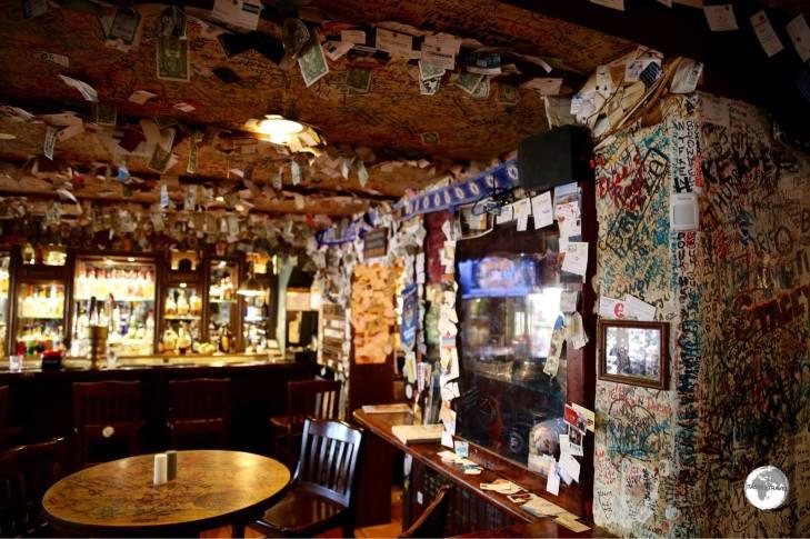 Bar at the legendary Swizzle Inn.