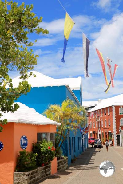 The colourful, calm, traffic-free, streets of St. Georges are a pleasure to explore.