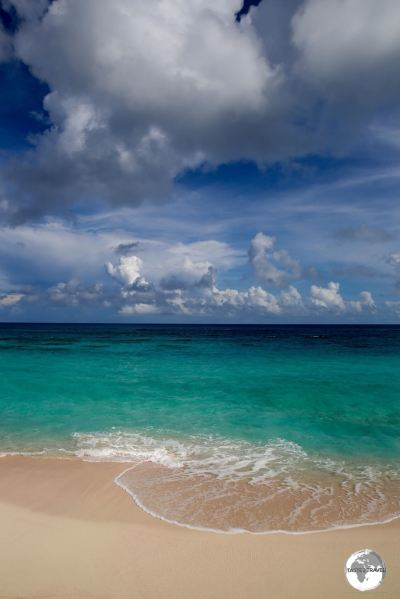 Storm clouds over Warwick Beach, one of the finer beaches on the south coast of Bermuda.