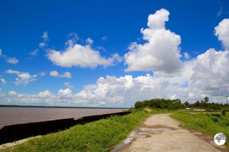 Travelling alongside the Essequibo river on Wakenaam Island.