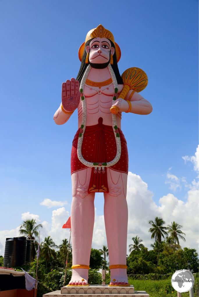 Located on Leguan island, the 52-feet statue of Lord Hanuman is the largest such statue in Guyana.