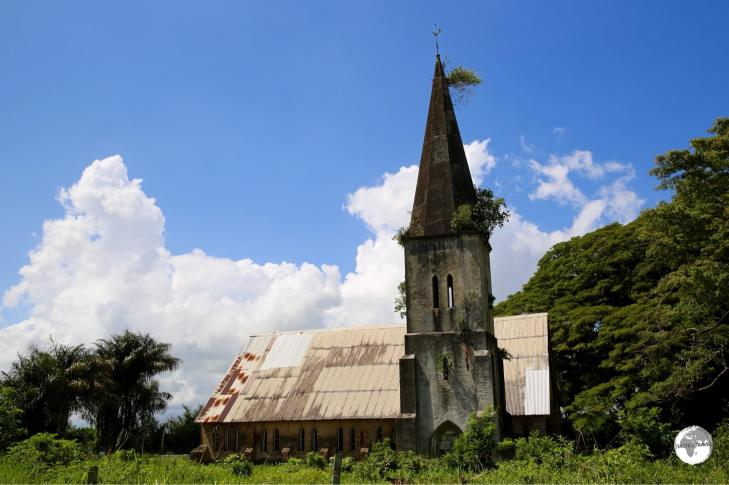 The exterior of the abandoned St Peter's Anglican Church on Leguan island. .