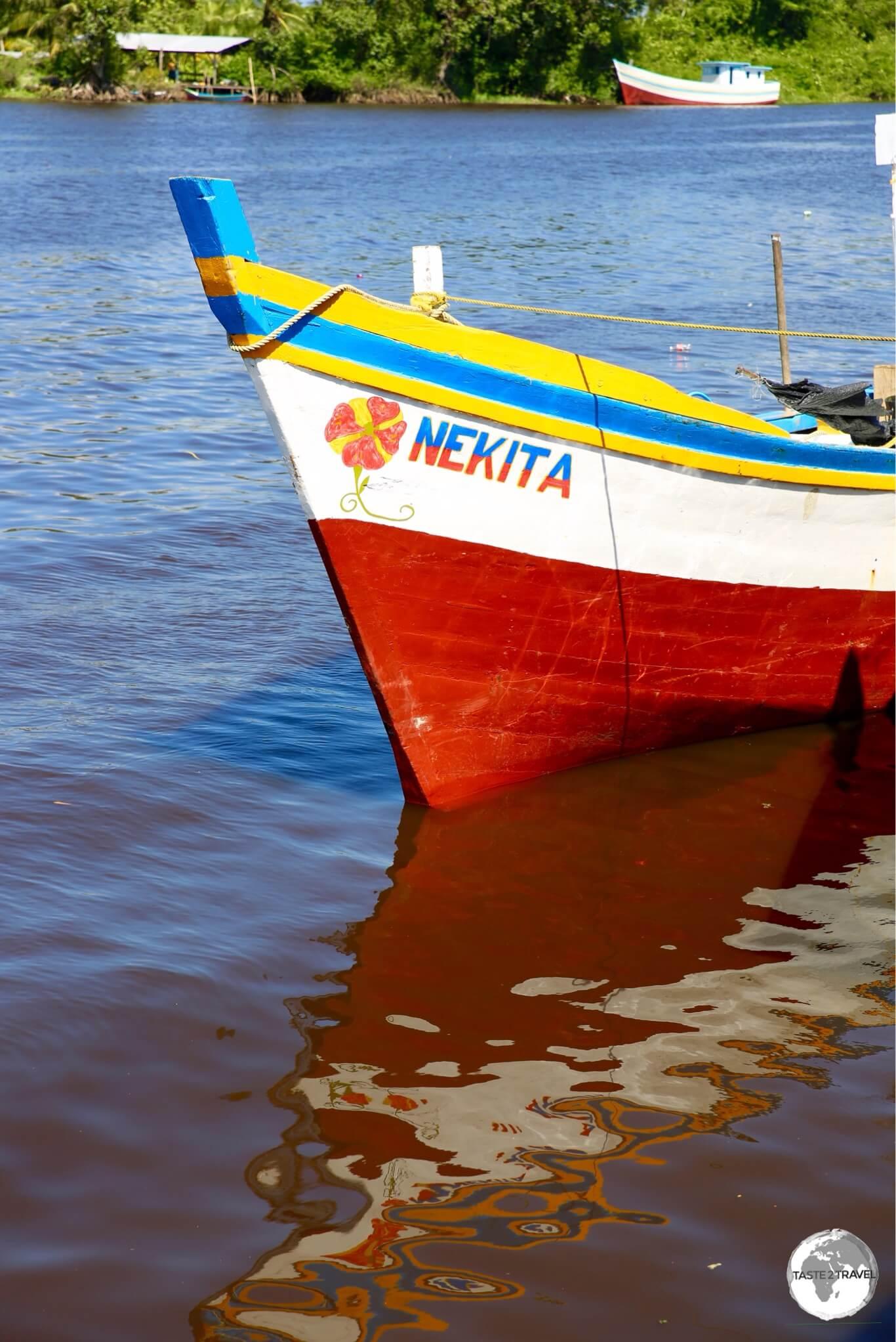 Boat docked in Charity.