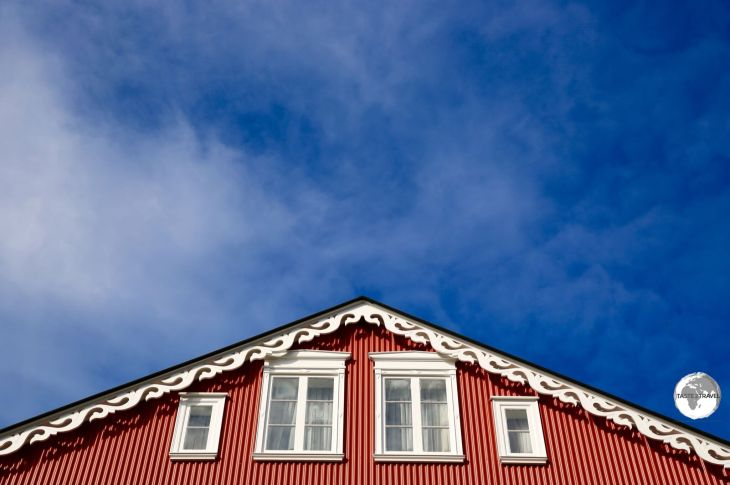 Traditional architecture in downtown Reykjavik.