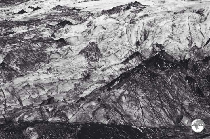The Mýrdalsjökull glacier.
