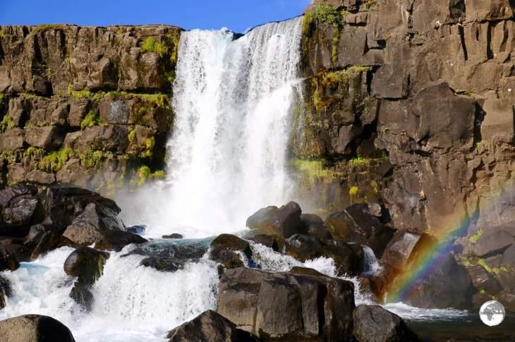 The Öxarárfoss waterfall.