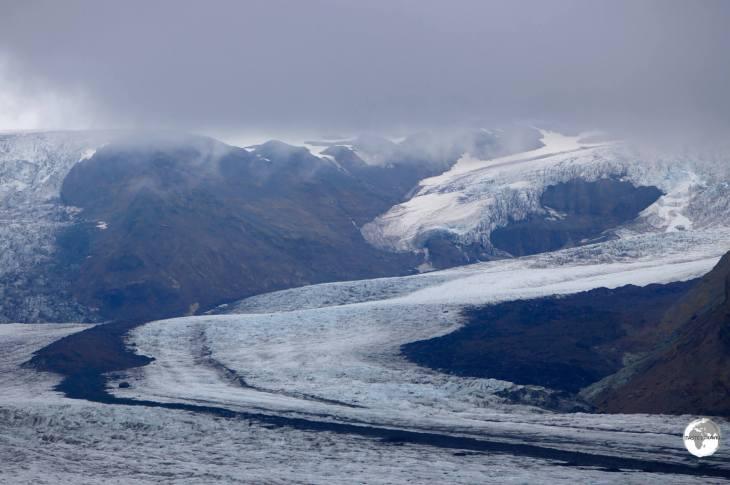Skaftafellsjökull, a small spur of the much larger Vatnajökull.