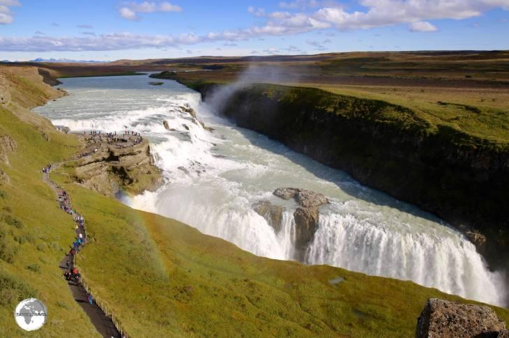 The spectacular Gullfoss waterfall.
