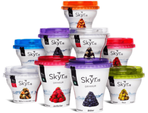 Different flavours of Skyr.