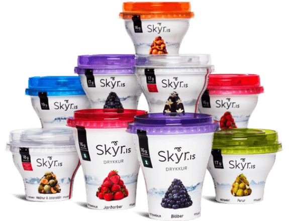 The different flavours of Skyr, the most amazing yoghurt on earth.