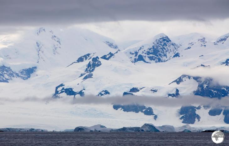 The towering, majestic peaks of Graham Land line the shore of Crystal Sound.