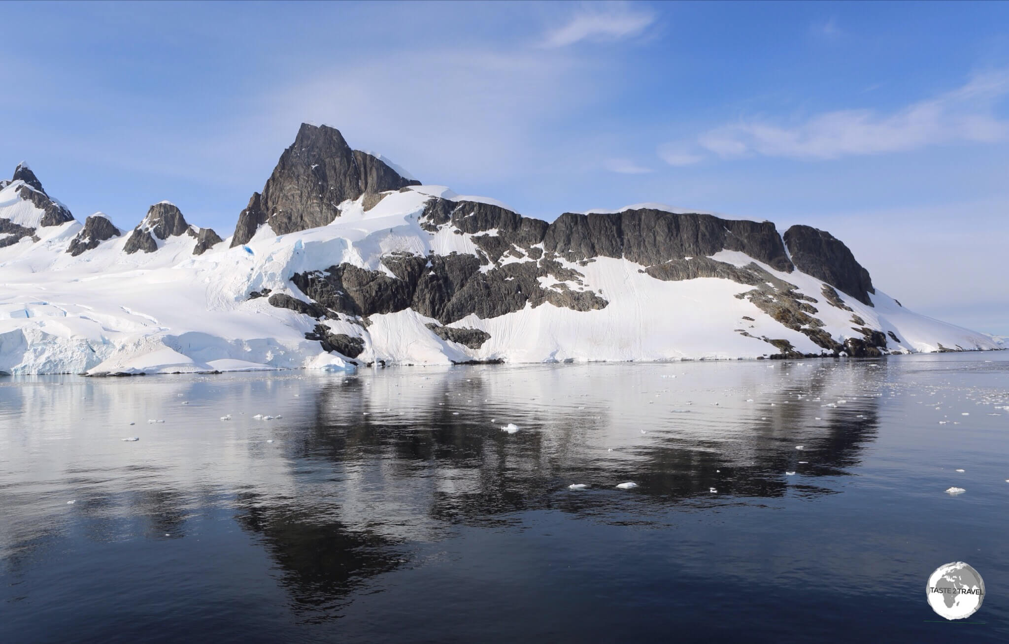 The magnificent scenery of the Graham passage, Antarctica.