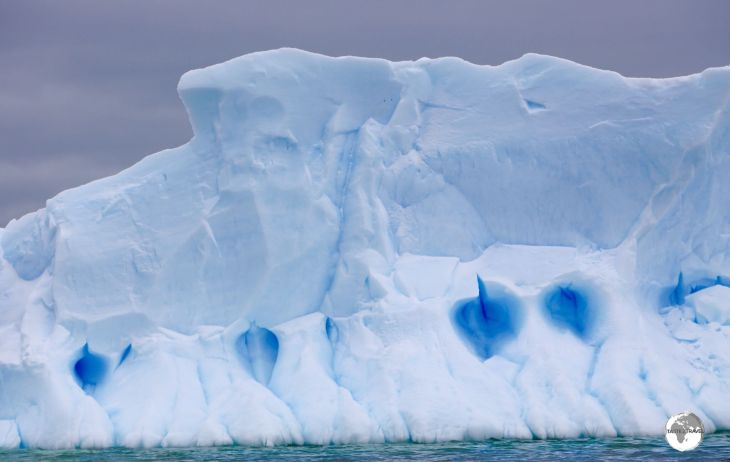 The shades of blue in Antarctica, such as in this iceberg in Crystal Sound, are dazzling.