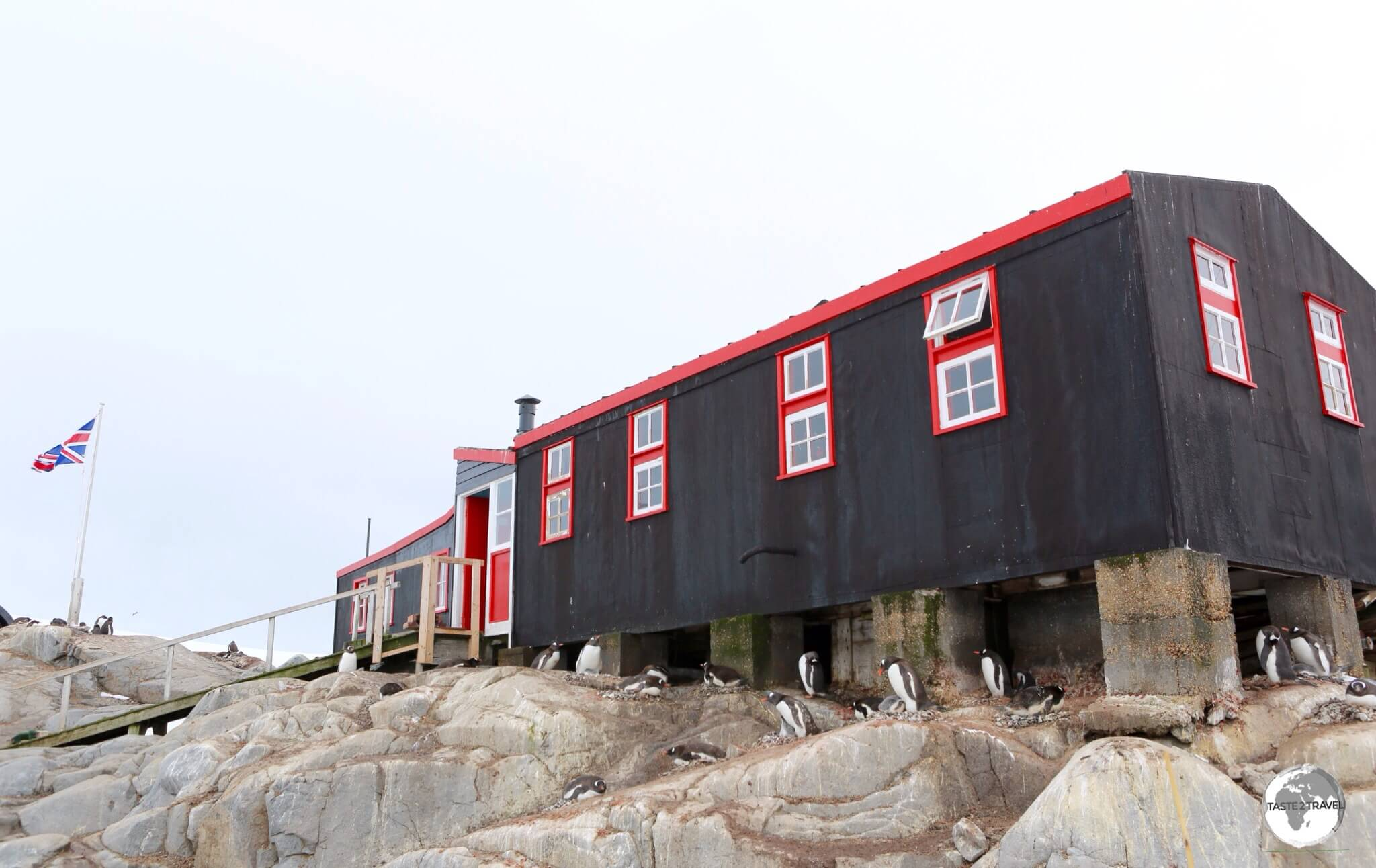 Bransfield House at Port Lockroy was constructed in 1944 and today houses a Post Office (the only shopping opportunity in Antarctica) and a small museum.