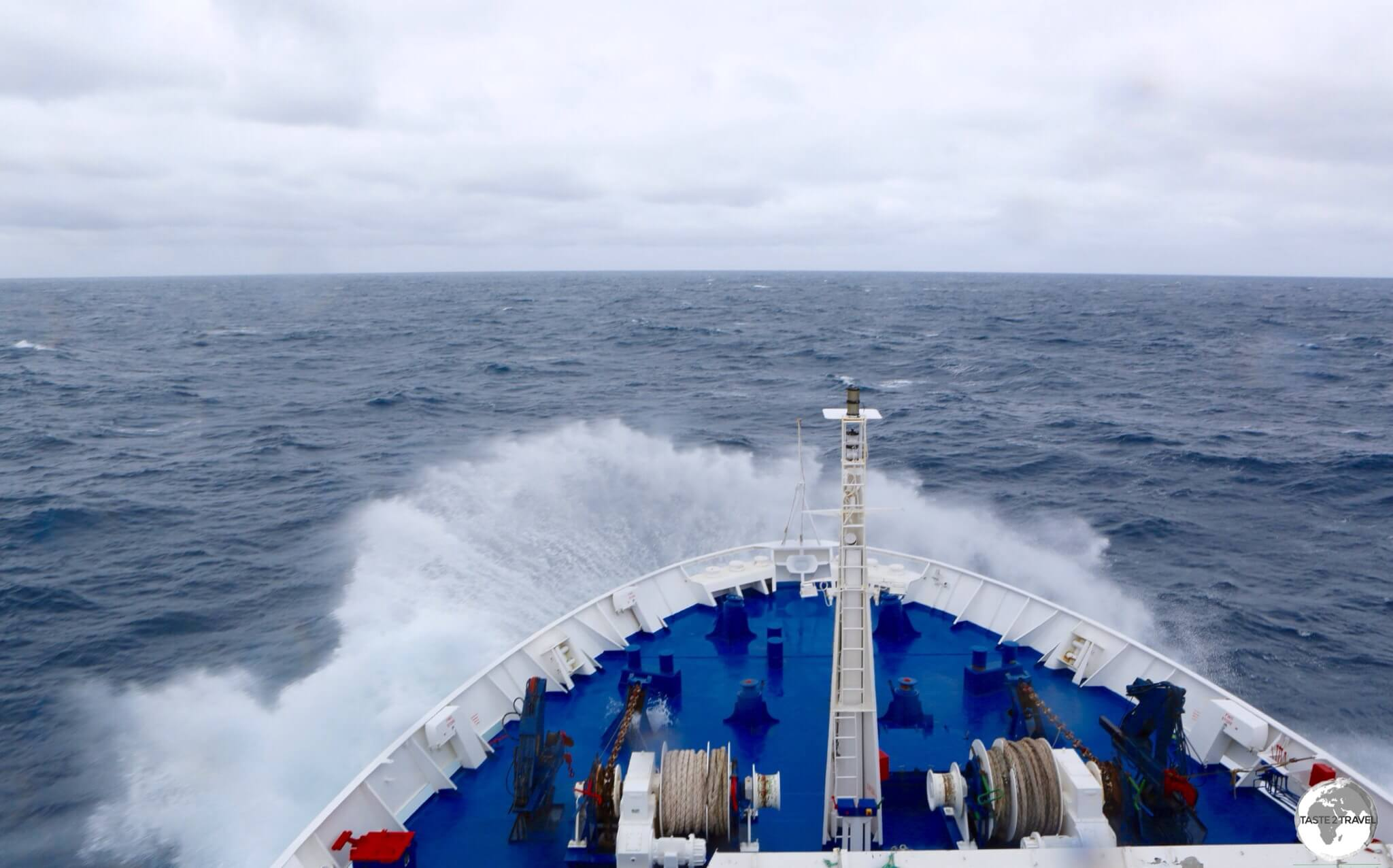 The Drake passage is notorious for rough crossings - our crossing lasted 77 hours.
