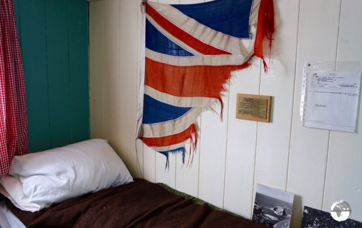 The former sleeping quarters at Port Lockroy are now part of the museum inside Bransfield house.