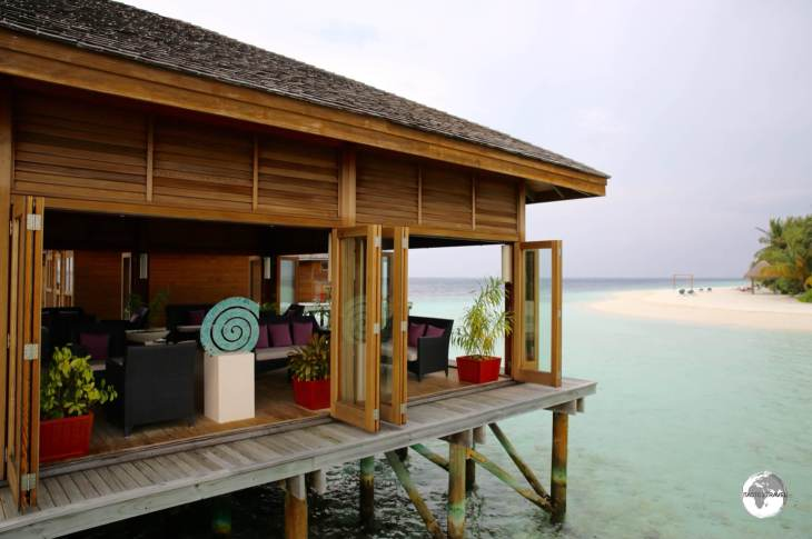 The over-water Duniye spa at the Vilamendhoo Island Resort and Spa.
