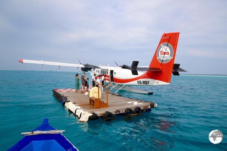 A TMA De Havilland Twin Otter at Vilamendhoo Resort and Spa.
