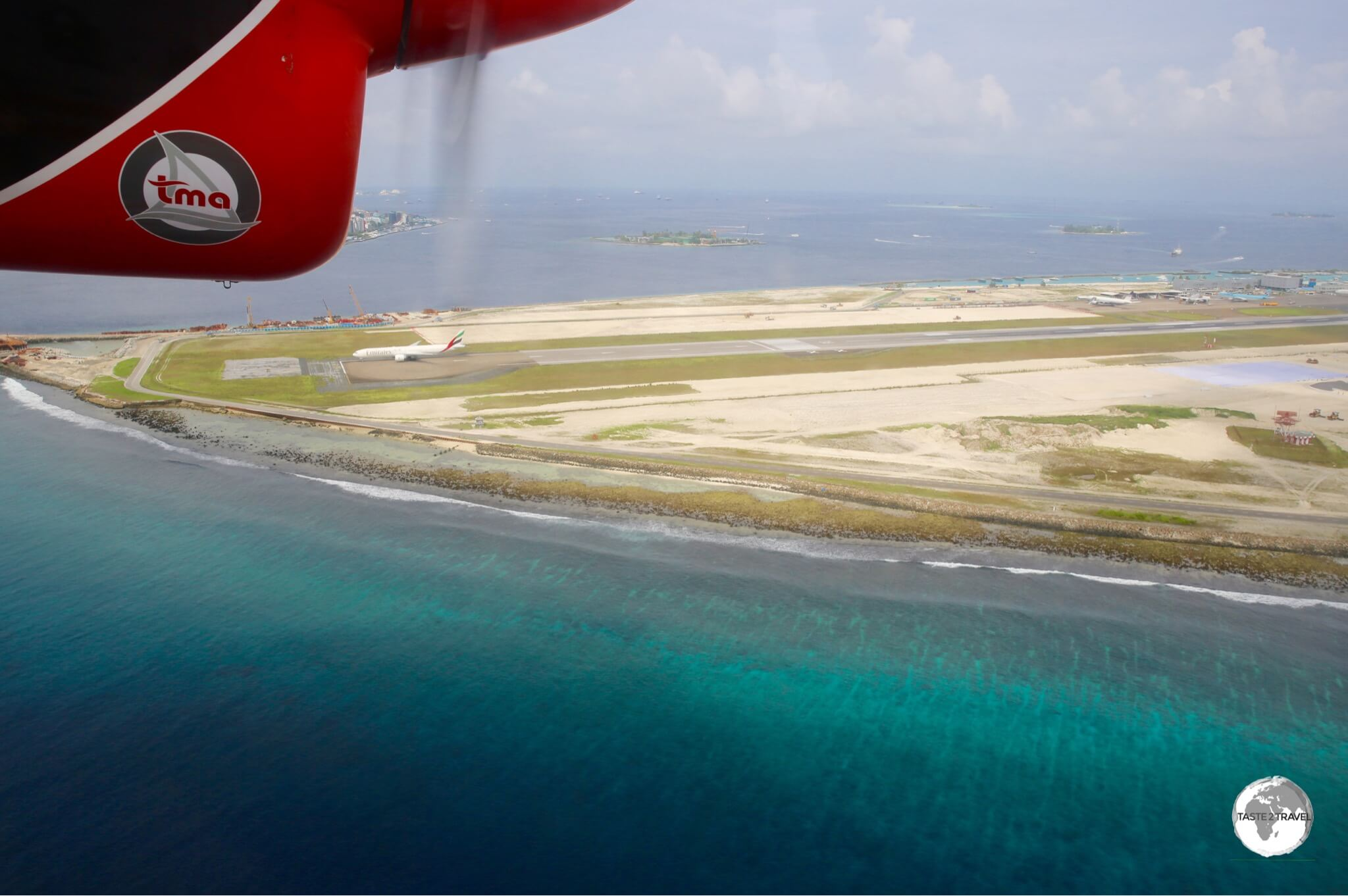 A view of Velana International airport which is currently undergoing an $800-million expansion by a Beijing company.
