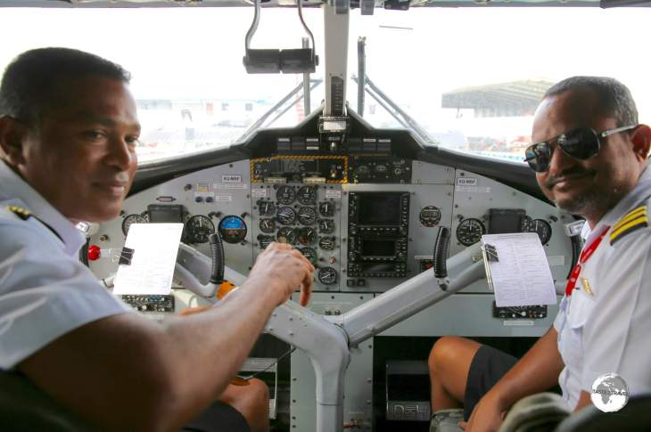 With our pilots onboard, we were ready to fly with TMA to Vilamendhoo Island resort.