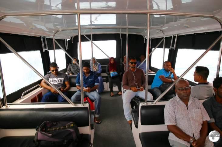 The fast and comfortable speedboat to Maafushi Island.