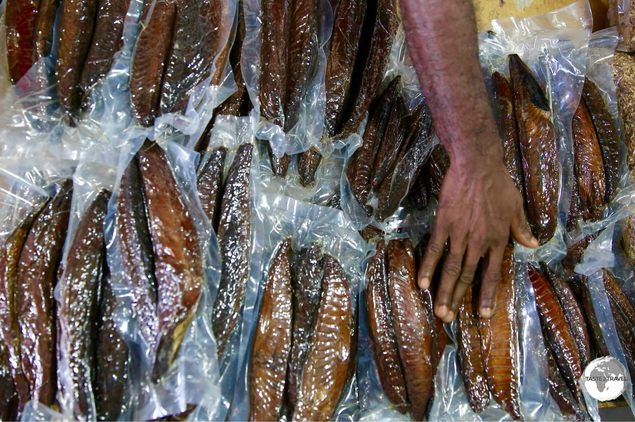 A specialty of the Maldives - Dhivehi is cured tuna fish.