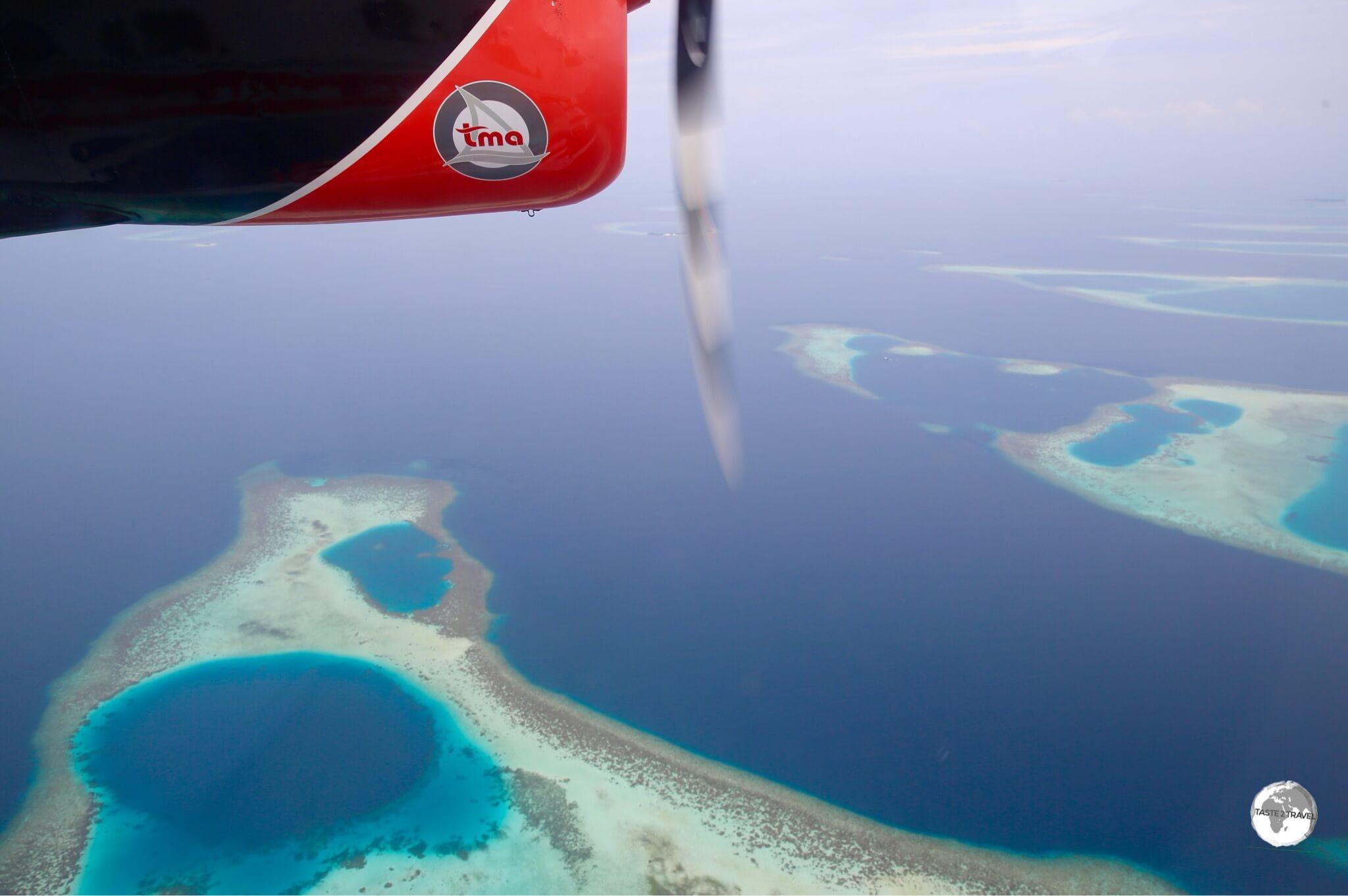 My TMA flight to my private island resort at Vilamendhoo.