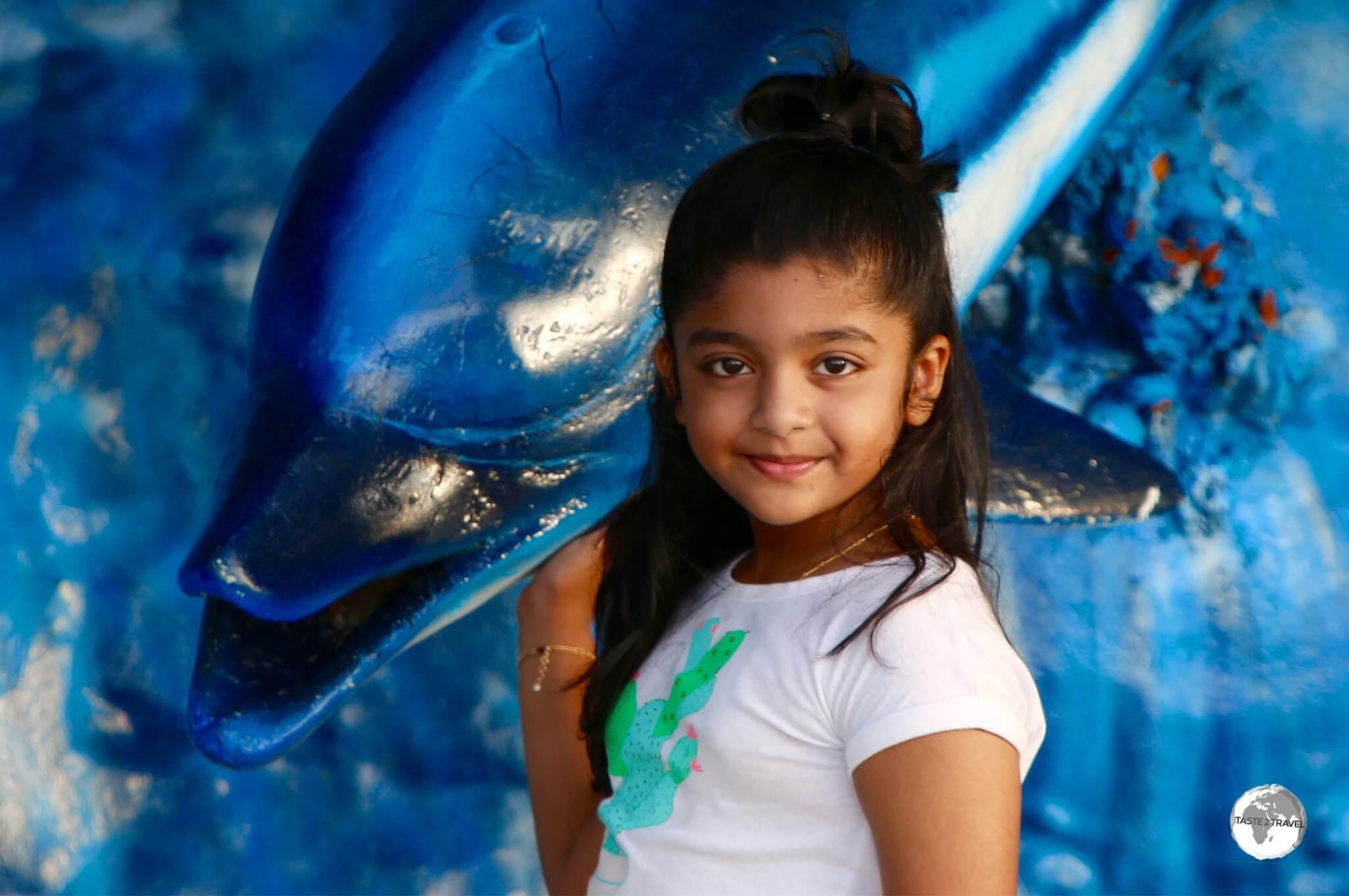 Young girl on Maafushi.