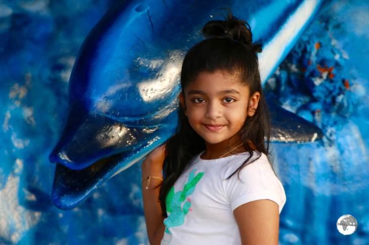 Young girl on Maafushi Island.
