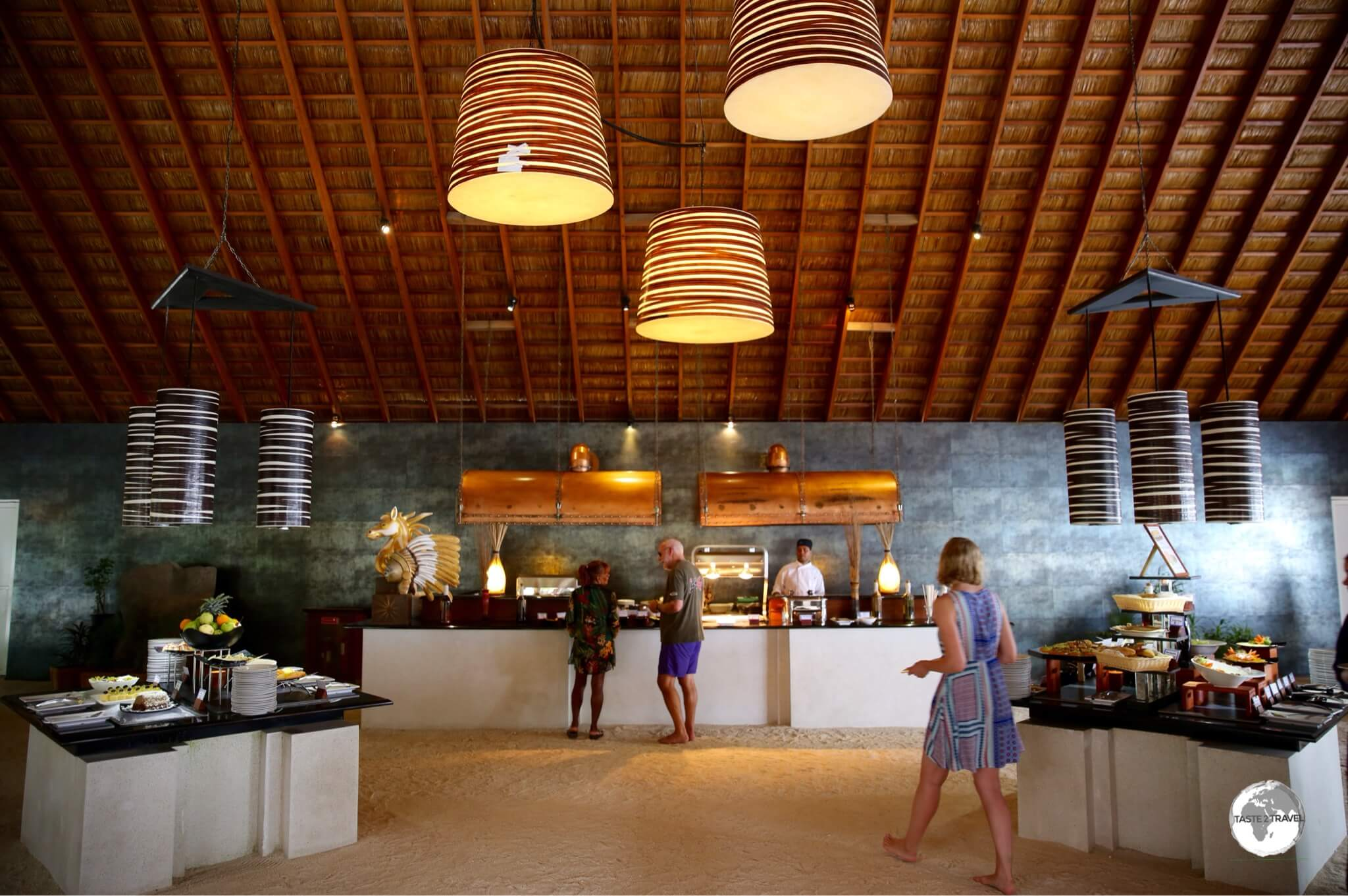 One of the two buffet restaurants at Vilamendhoo resort.