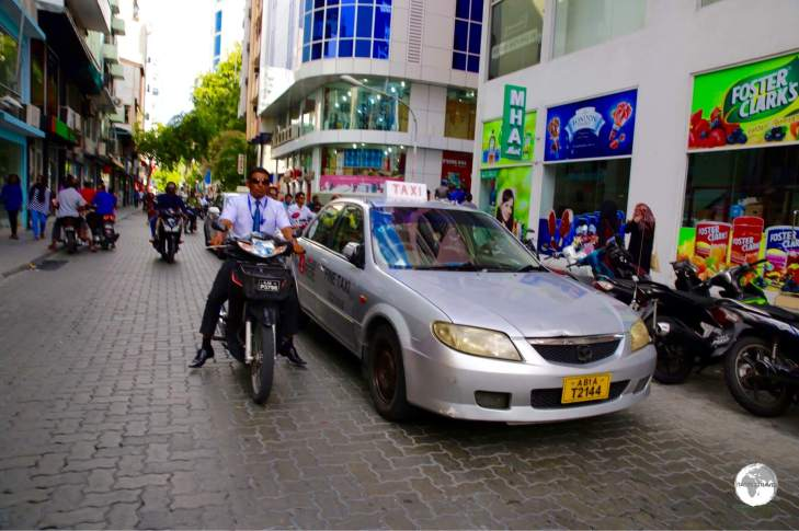 Taxi's on Malé cost just a couple of dollars to any destination on the island.