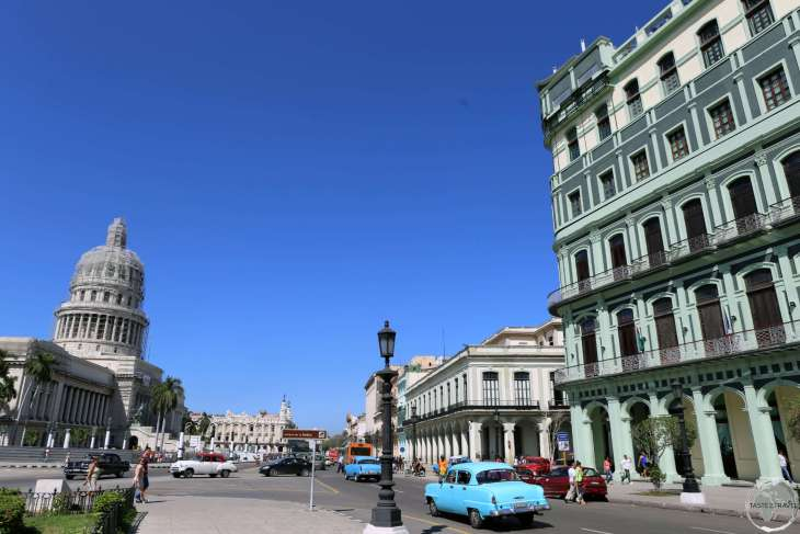 The domed <i>El Capitolio</i> building in Havana serves as the nation's capital building.