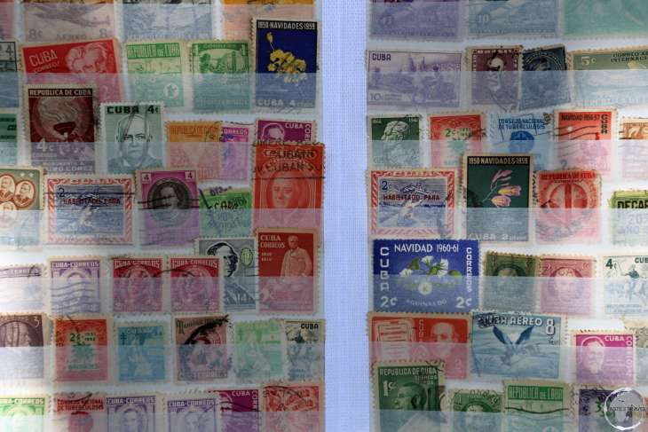 Stamp sellers can be found peddling old Cuban stamps on Plaza de Armas.