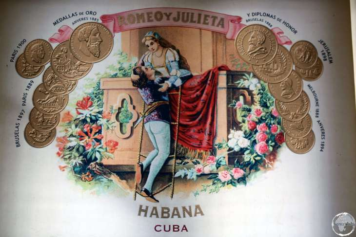 Advertisement for 'Romeo y Julieta' cigars.
