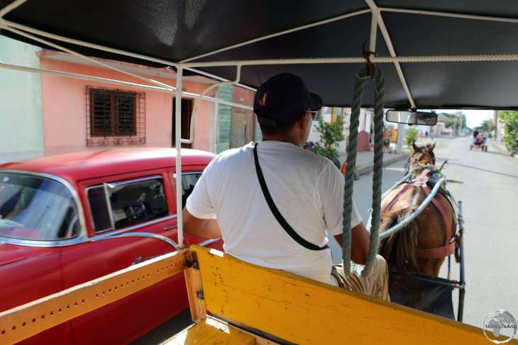 A <i>Coches de caballo</i> is the best way to explore Cienfuegos and other Cuban cities.