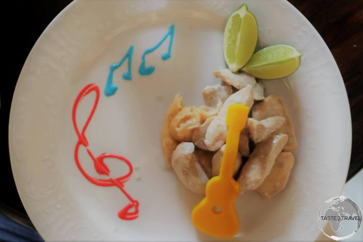 Lunch at Restaurante Guitarra Mia,Trinidad.