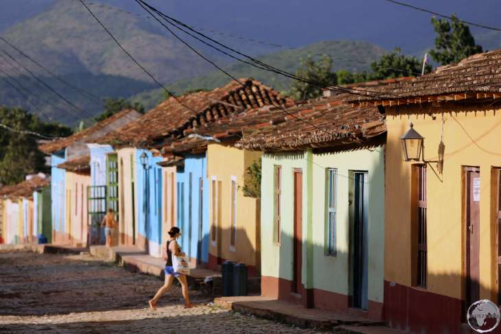 Colourful houses line the cobbled streets of the quant old town of Trinidad.