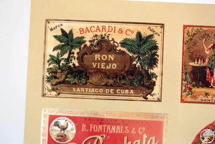 Memorabilia at the Bacardí Rum Factory in Santiago de Cuba.