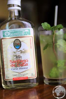 A Mojito served at the Bacardi Rum museum in Santiago de Cuba.