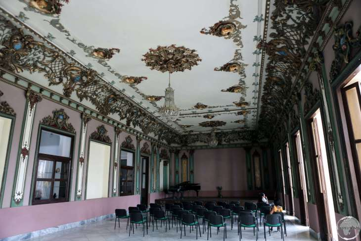 Concert hall at the Municipal theatre in Santiago de Cuba.
