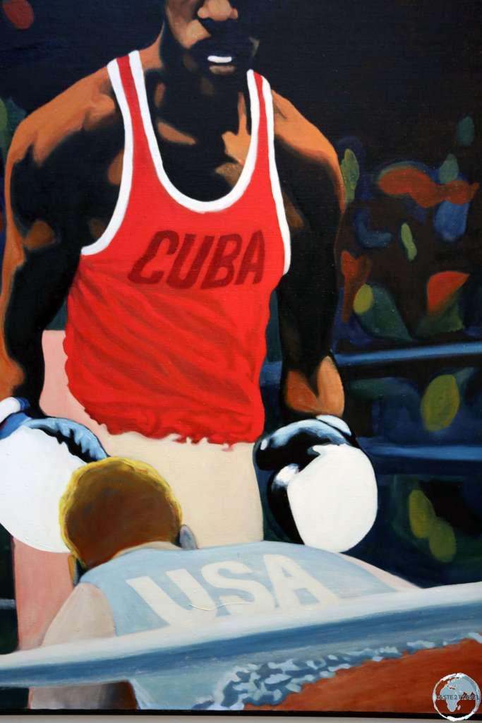Symbolic artwork in the National Museum of Fine Arts in Havana.