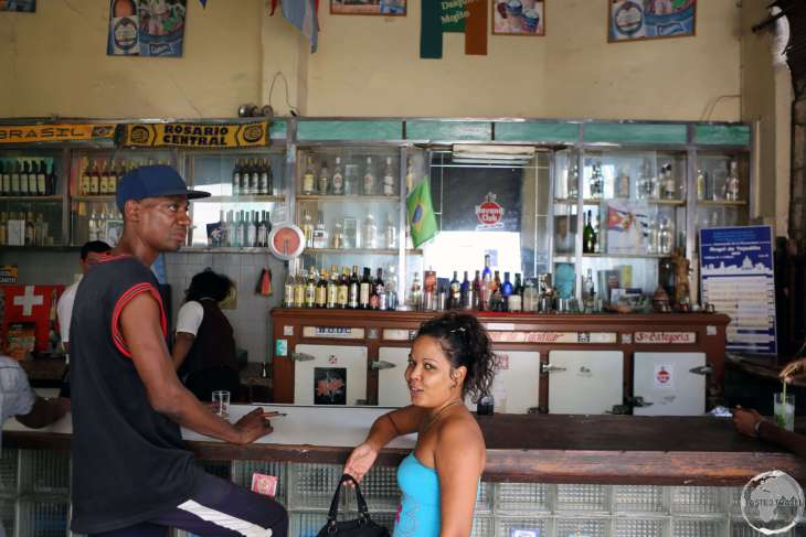 Bar in Havana old town.