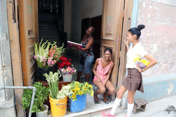 A Florist in the old town of Havana.