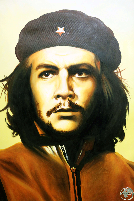 A portrait of Che Guevara.