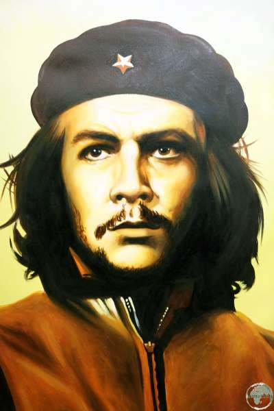 "A portrait of Ernesto ""Che"" Guevara at the Museum of the Revolution in Havana."