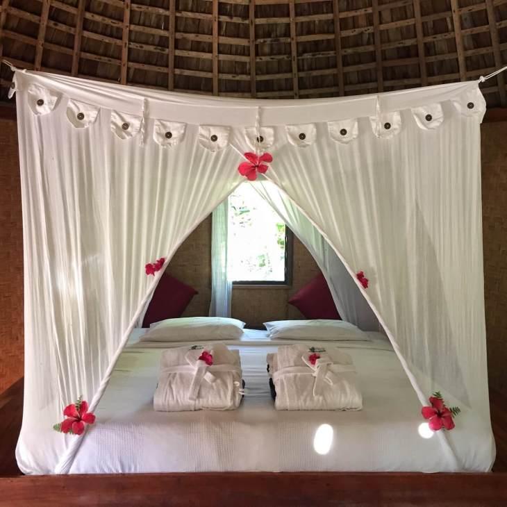 Interior view of a Fale at Fafa Island resort. Source: Fafa Island Resort
